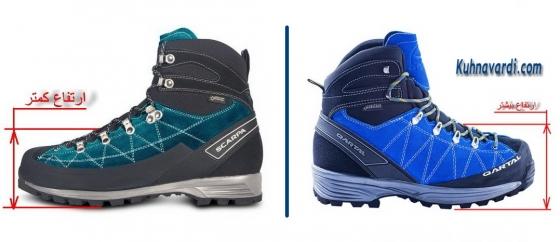 مقایسه کفش کوه قارتال با اسکارپا