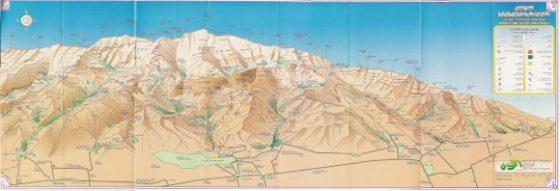 نقشه مناطق کوهستانی شمال تهران