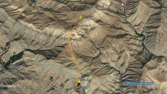 مسیر صعود به قله چشمه شاهی