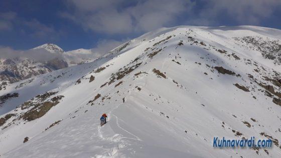 قله استرچال از آهار - آذرماه 1399