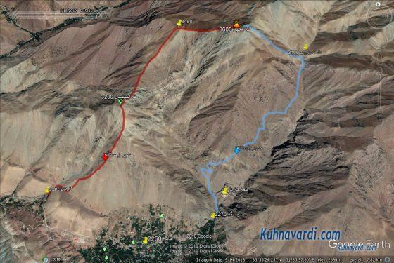 مسیرهای صعود به قله همهن