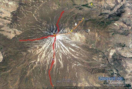 قله دماوند جبهه شمال شرقی