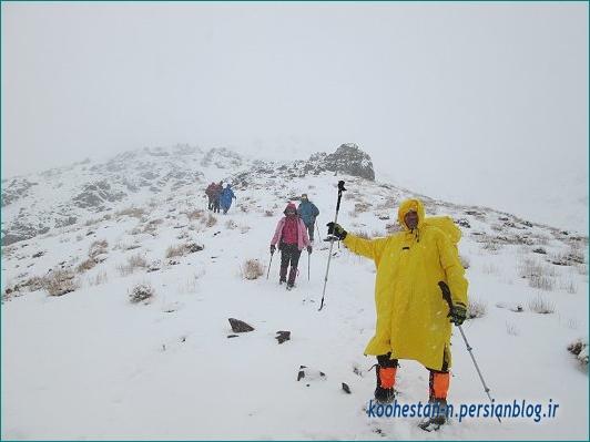 مسیر قله برف انبار