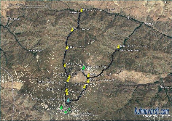 مسیر قله آزادکوه از نسن