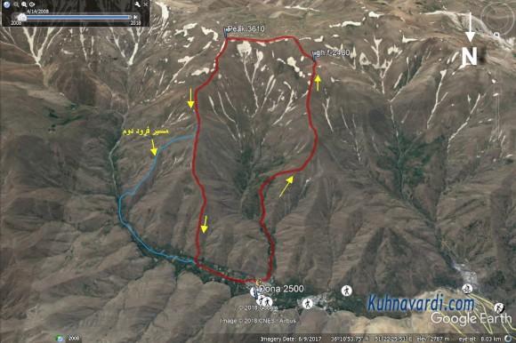 مسیر قله دونا