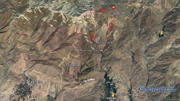 قله شاه کرم غربی از ولیان