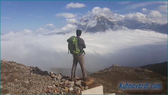 دورنمای قله خرونرو از روی قله عباسعلی