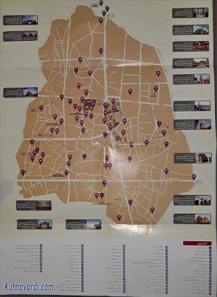 نقشه گردشگری قزوین