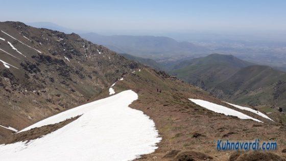 قله تخت از ولیان