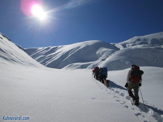 روز کوهنورد - عکس: مسیر صعود به قله یونزا از گرمابدر، دی ماه 1395 ، گروه نشاط زندگی