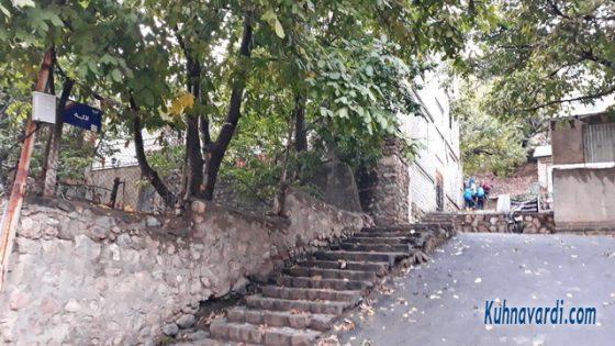 روستای روته - ابتدای حرکت، کوچه لاله