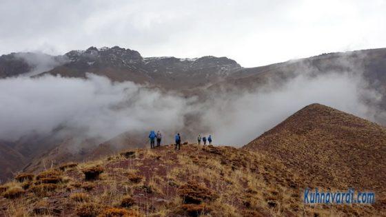 قله روته از مسیر زمستانی