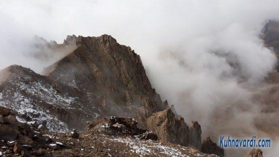 قله روته - گرده های سنگی شمالی و غربی