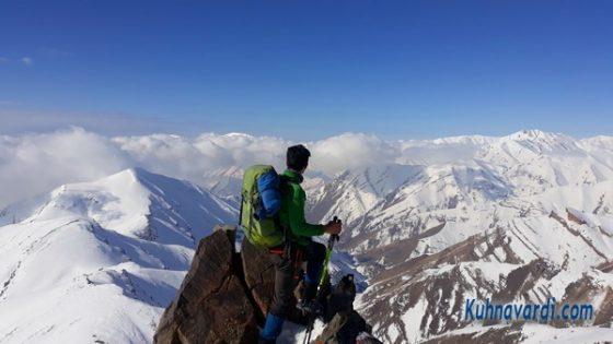 مسیر قله شاه نشین از امامزاده داود