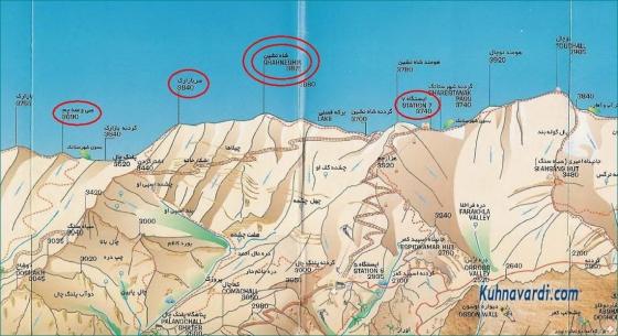 نقشه قله شاه نشین