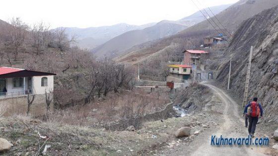 جاده روستای کشار بالا