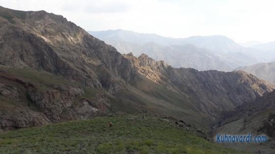 مسیر قله کرچان از سپهسالار