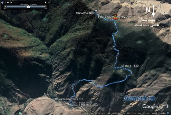 مسیر صعود به قله نقره سر