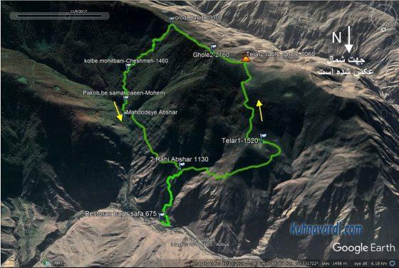 قله نقره سر - صعود از مسیر نرمال، فرود از مسیر آبشار