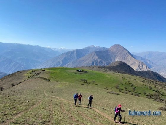 قله نقره سر - در مسیر قله دوم
