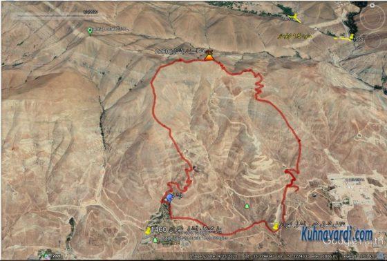 قله آسیاب باد از بوستان لتمال وآبشار تهران