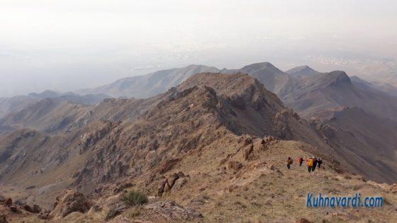 مسیر فرود - یال صخره ای