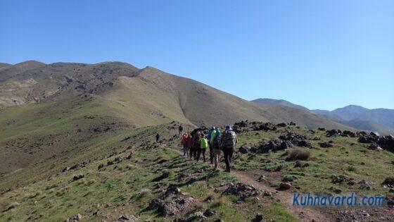 مسیر قله آسمان کوه ساوجبلاغ