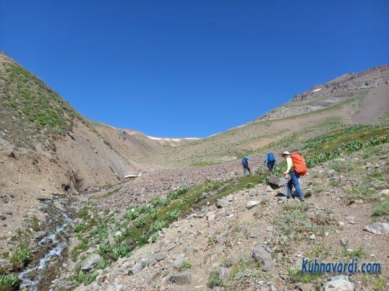 مسیر قله کرچان - محدوده چشمه ها