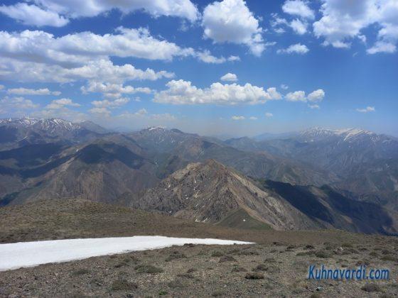نمای جنوبی قله کرچان (قله هزاربند و ...)