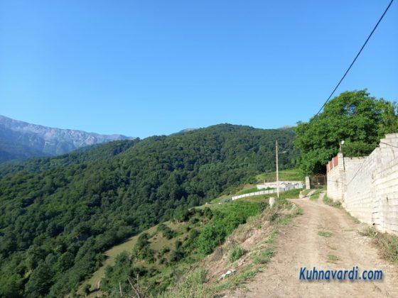 روستای تیار، ابتدای مسیر