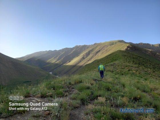 مسیر قله سکه نو از روی یال