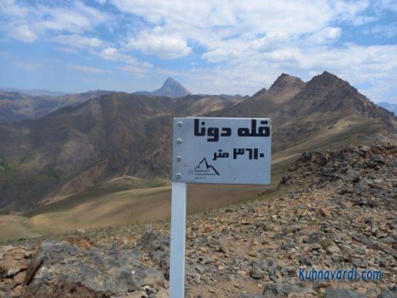 تابلو قله دونا 3610 متر (نصب شده توسط آقای پویا سلیمانی)