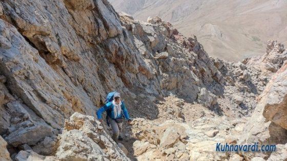 مسیر صعود به قله کافره