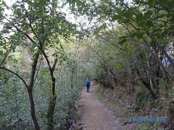 مسیر قله ناز از روستای کلوان